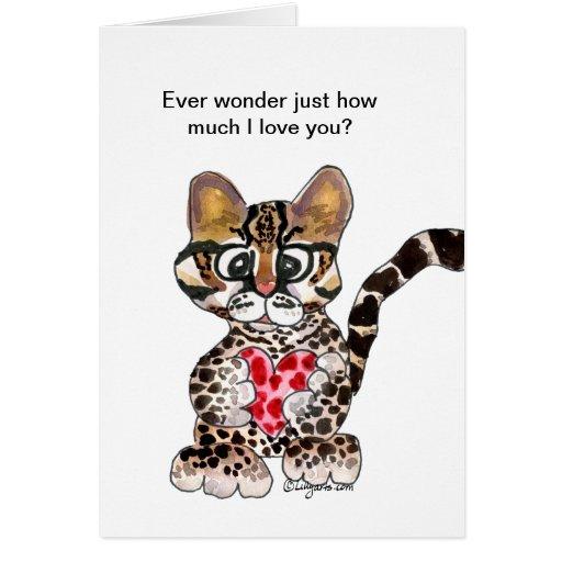 Te amo una tarjeta de la tarjeta del día de San Va