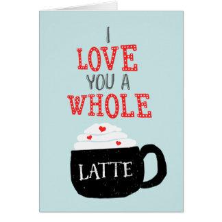 Te amo una tarjeta del día de San Valentín entera
