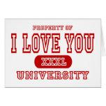 Te amo universidad tarjeta