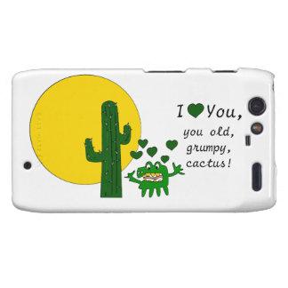 ¡Te amo, usted cactus gruñón viejo! Droid RAZR Fundas