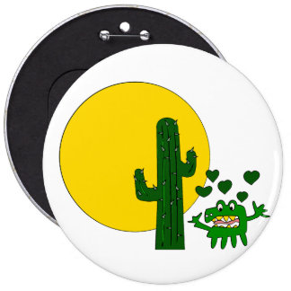 ¡Te amo, usted cactus gruñón viejo! Pin Redondo 15 Cm