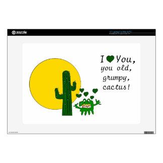¡Te amo, usted cactus gruñón viejo! Portátil Skin