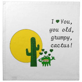 ¡Te amo, usted cactus gruñón viejo! Servilletas
