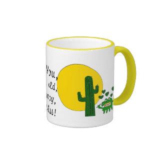 ¡Te amo, usted cactus gruñón viejo! Taza A Dos Colores