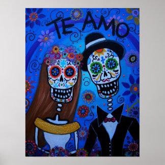 TE AMO WEDDING COUPLE POSTER