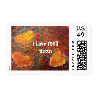 Te amo XOXO Timbre Postal