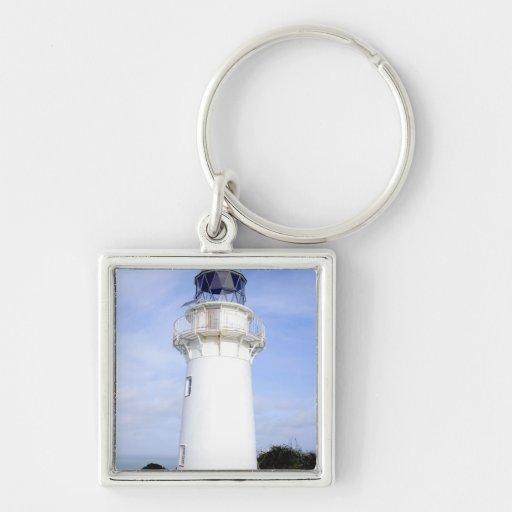 Te Araroa, New Zealand. A lighthouse gives Key Chains