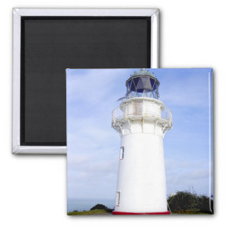 Te Araroa, New Zealand. A lighthouse gives 2 Inch Square Magnet