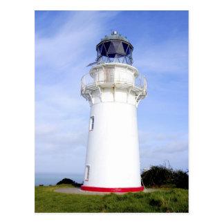 Te Araroa, New Zealand. A lighthouse gives Postcard