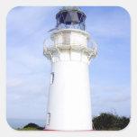 Te Araroa, New Zealand. A lighthouse gives Square Sticker