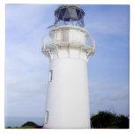 Te Araroa, New Zealand. A lighthouse gives Tiles