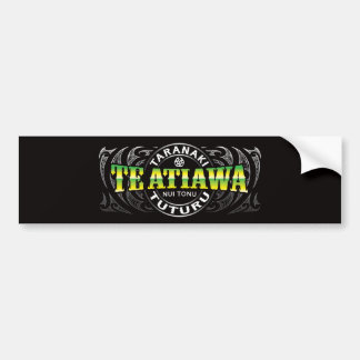 Te Ataiawa Lifer Moko Chrome Bumper Sticker