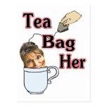 té bolso-ella tarjeta postal