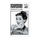 té/café de los años 50 sello
