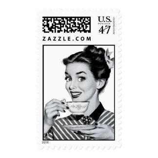 té/café de los años 50 timbres postales