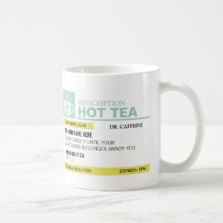 Té caliente de la prescripción divertida taza básica blanca