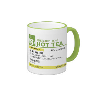Té caliente de la prescripción divertida - verde taza de dos colores
