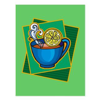 Té con el limón tarjeta postal