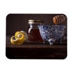 Té con el limón y la miel iman de vinilo