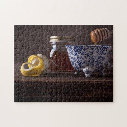 Té con el limón y la miel puzzles con fotos