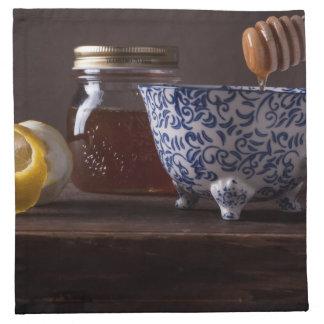 Té con el limón y la miel servilleta