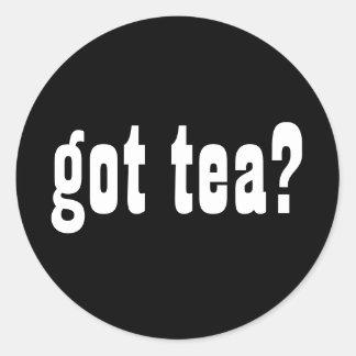 ¿té conseguido? pegatina redonda
