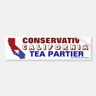 Té conservador Partier de California Pegatina De Parachoque