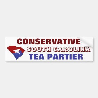 Té conservador Partier de Carolina del Sur Pegatina Para Auto