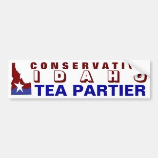 Té conservador Partier de Idaho Pegatina Para Auto