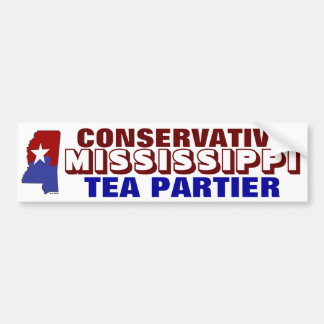 Té conservador Partier de Mississippi Pegatina Para Auto