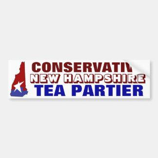 Té conservador Partier de New Hampshire Pegatina Para Auto