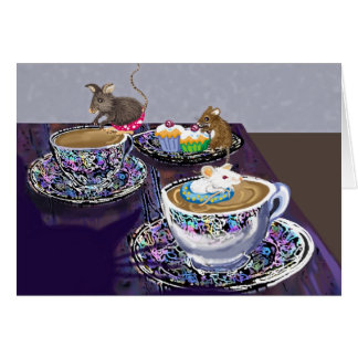 ¿té cualquier persona? tarjeta de felicitación