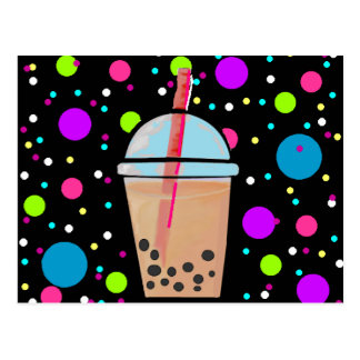 Té de la burbuja - fondo de la burbuja tarjetas postales