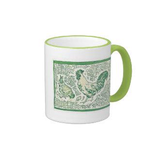Té de la mañana taza de dos colores