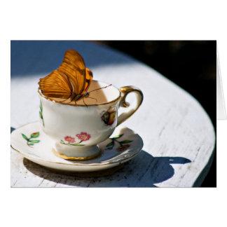 Té de la mariposa tarjeta pequeña
