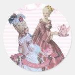 Té de Marie Antonieta en los sellos de Trianon Etiquetas Redondas