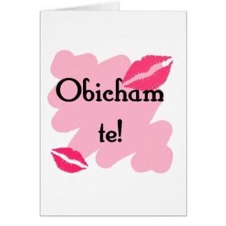 Te de Obicham - búlgaro te amo Tarjeta
