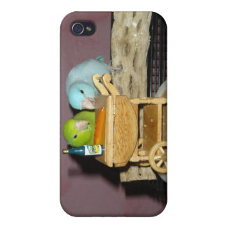 Té de Parrotlets para dos iPhone 4/4S Carcasa