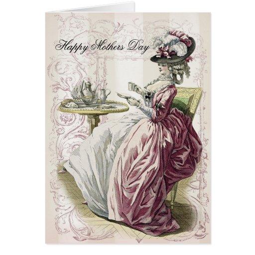 ¡Té de tarde! Día de madres feliz Felicitación