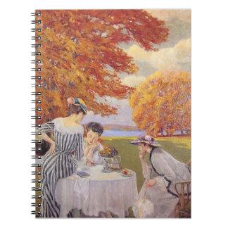 té de tarde en el parque spiral notebook