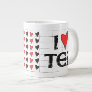 té del corazón i (amor) tazas jumbo