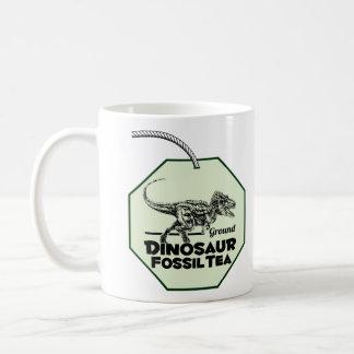 Té del fósil de dinosaurio taza
