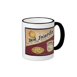Té del mejor amigo taza de dos colores