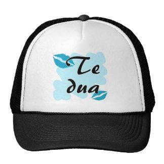 Te dua - Albanian - I Love You Mesh Hat