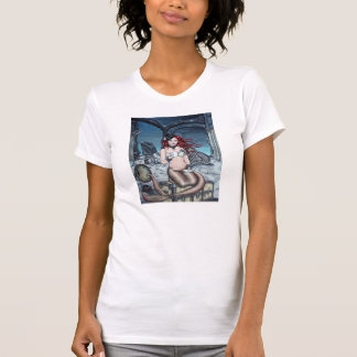 Té en la camiseta de la sirena del steampunk de la