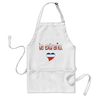 Te Extraño! Chile Flag Colors Adult Apron