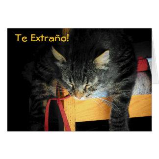 TE EXTRAÑO!  GATO CARD