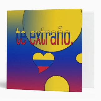 ¡Te Extraño! La bandera de Venezuela colorea arte