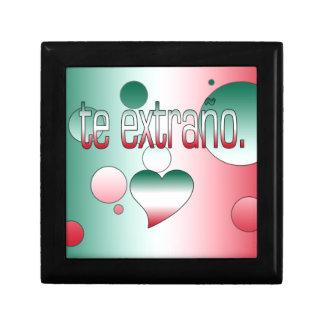Te Extraño! Mexico Flag Colors Pop Art Gift Boxes