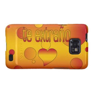 Te Extraño! Spain Flag Colors Pop Art Galaxy SII Cover
